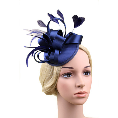 Party hats Fedoras hats for women Boutique customized female headdress feather hair ornament mesh headdress stage party hairpin top hat