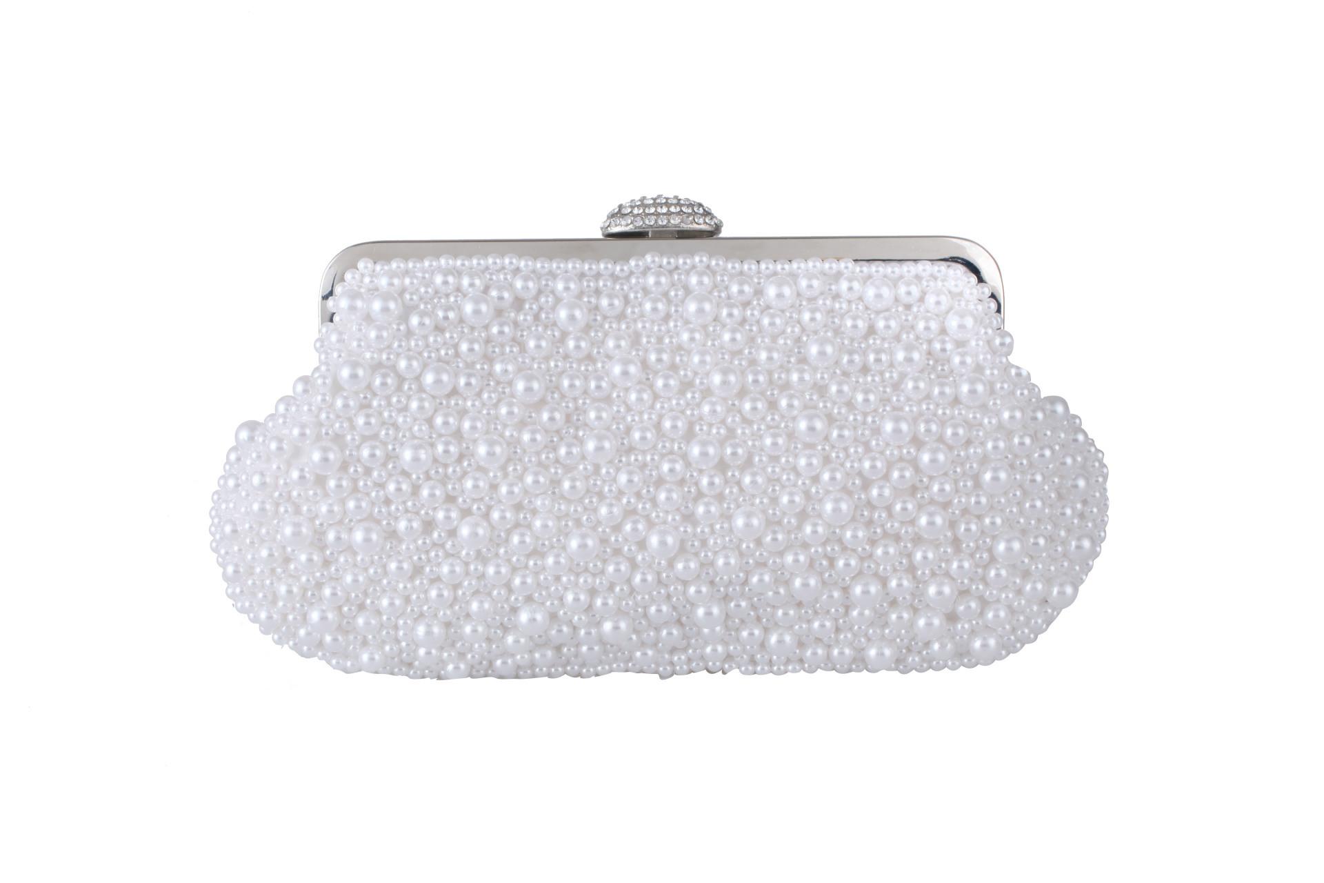 women bag new handmade pearl bag fashion evening banquet handle clutch NHYG182988