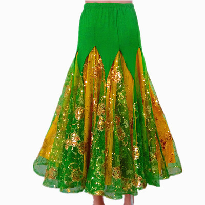 Ballroom dance skirts for women Modern dance competition big swing skirt half length skirt Social Dance Skirt Waltz skirt