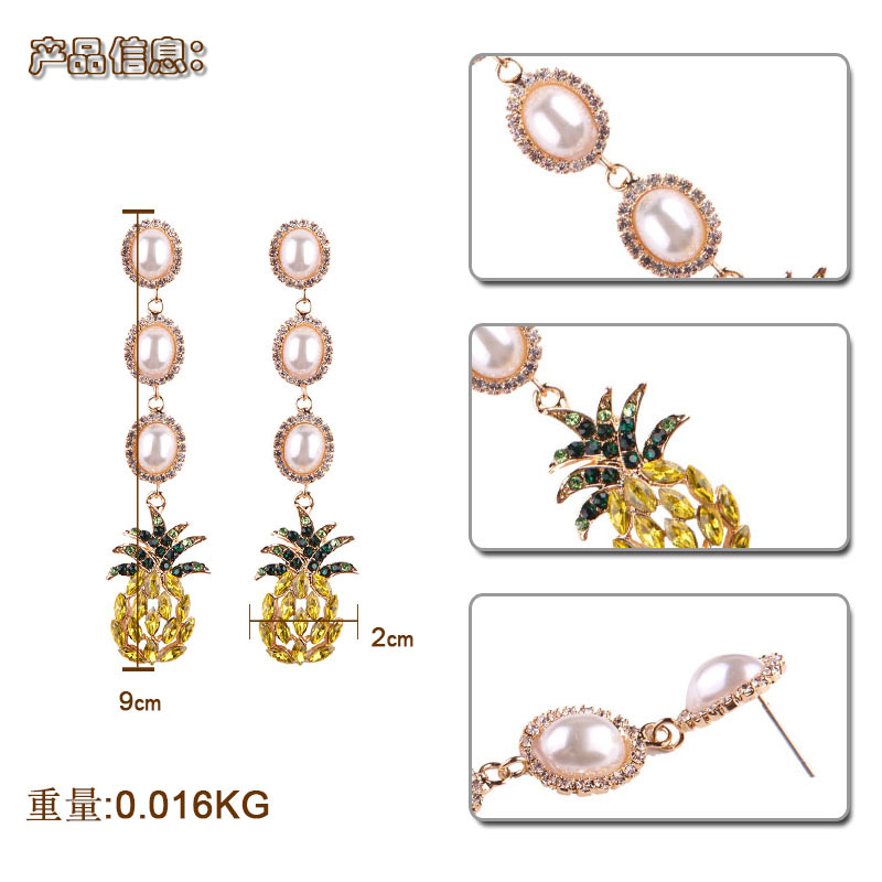 Exotic alloy Diamond earring (color)NHJQ9187-color