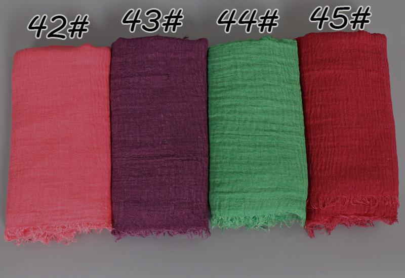 总图 11-毛须围巾褶皱 单色围巾批发