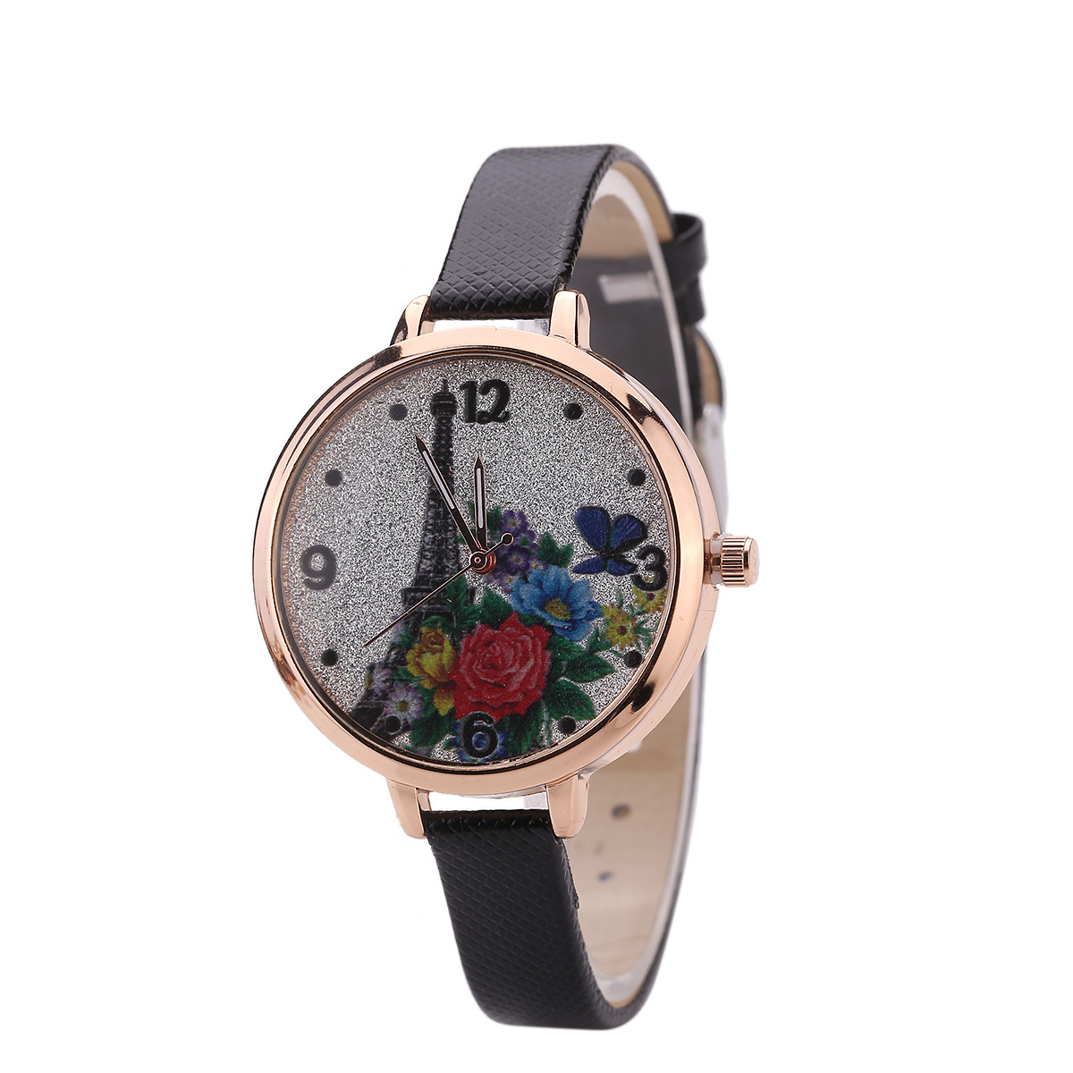 Stylish and simple style still belt quartz watch NHHK156126