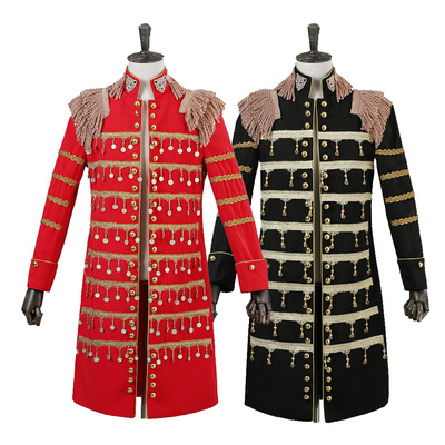 men's jazz dance suit blazers Men costume BigBang same night singer bar show tassel dance DJ