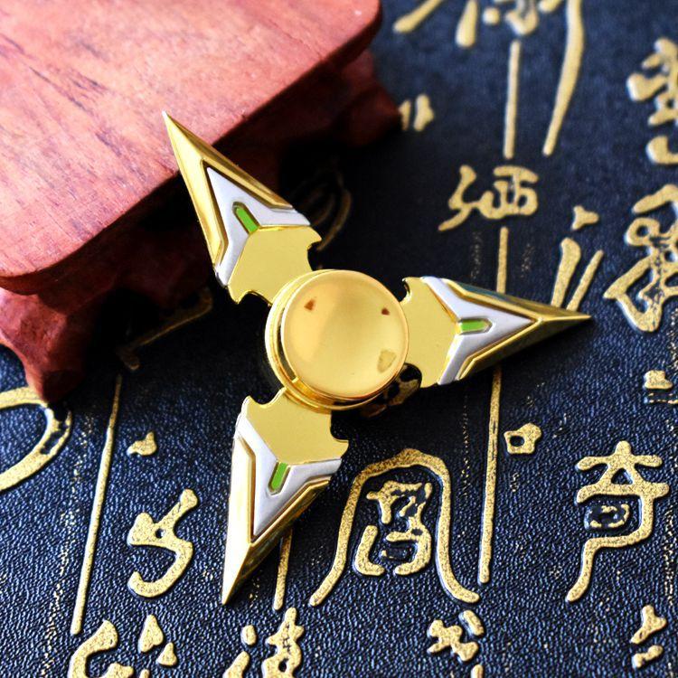 Смотреть пионер Гэндзи 3 листа кончик пальца гироскоп золотой -J1