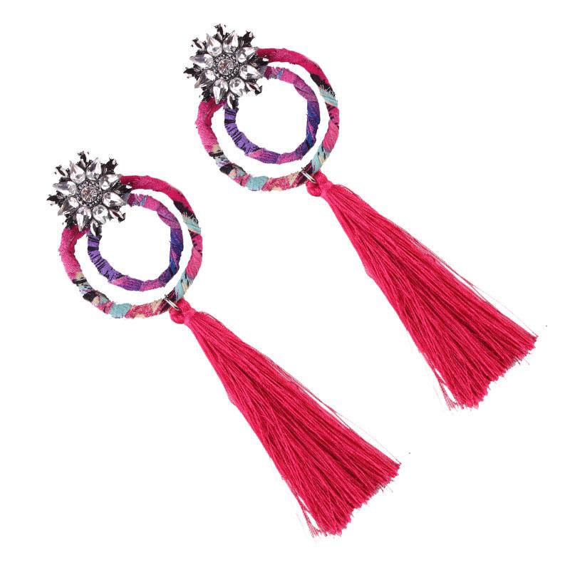 New 4 Color Women's Long Personalized Tassel Earrings NHJQ181710