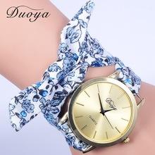 2016新款duoya品牌手表女士布带手表 小清新碎花布带表批发女表