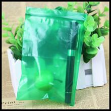 定做绿色自封袋 加厚 水果包装彩色塑料密实袋 样品分类收纳胶袋