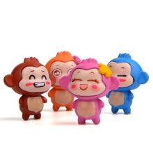 4款嘻哈猴情侣手办卡通百搭DIY韩版创意微景观园艺动漫造景公仔