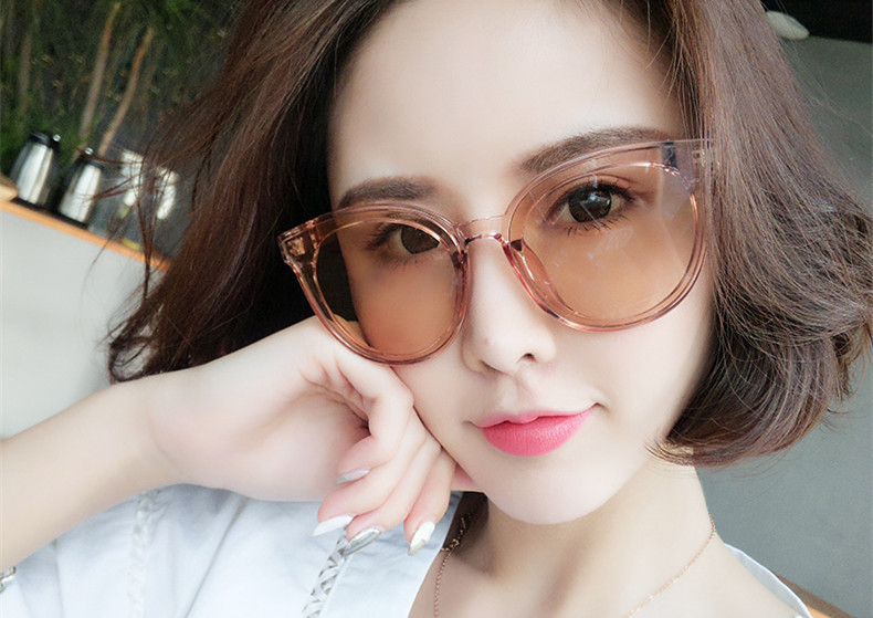Plastic Vintage  glasses  (Transparent powder)  Fashion Accessories NHKD0812-Transparent-powder