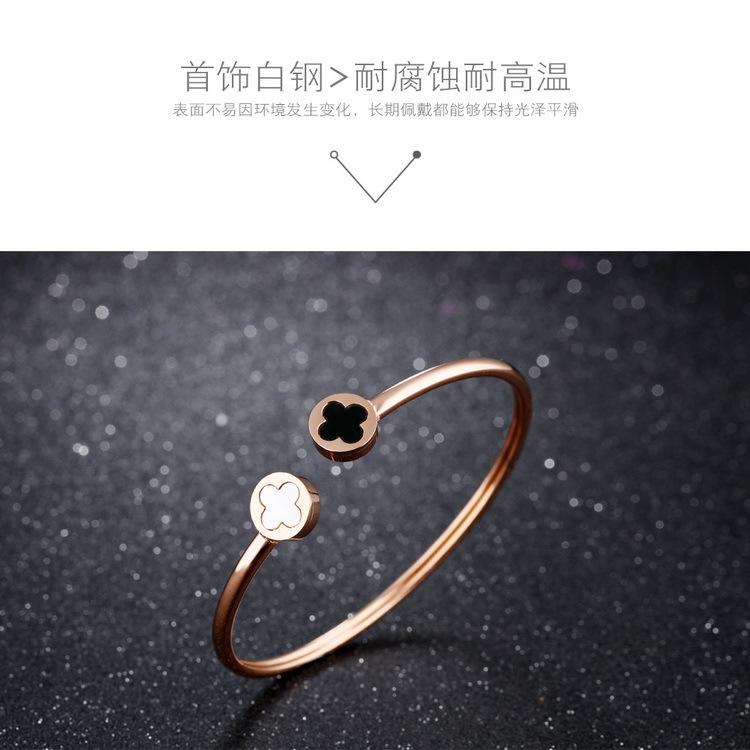 Titanium&Stainless Steel Korea Geometric bracelet(Rose gold bracelet) NHOP2716-Rose-gold-bracelet
