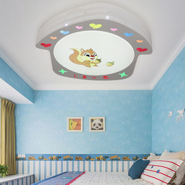 Creative cartoon ceiling lamp Acrylic simple LED children's room lamp modern home decoration round bedroom lamp