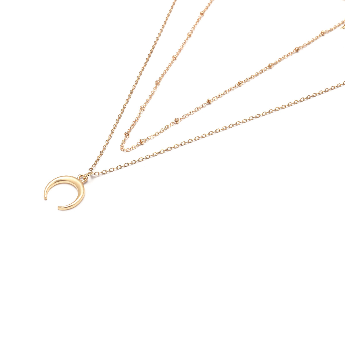 Simple Alloy necklace Geometric NHXR1767-Alloy 1738