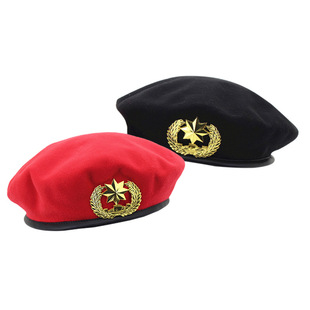 New products for autumn and winter sailor dance hat stage performance hat square dance waist drum music security hat army fan woolen beret