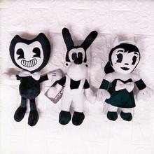 驚悚游戲班迪和印墨機毛絨公仔30cm班迪毛絨玩具玩偶現貨廠家直銷