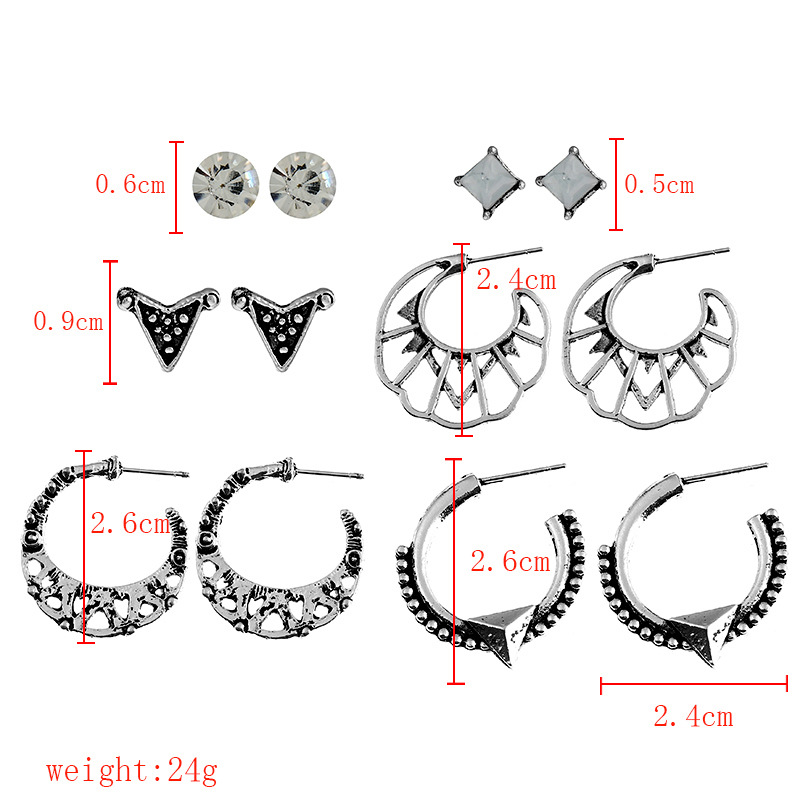 Retro alloy plating Jewelry Set (Silver)NHNNZ3039-Silver