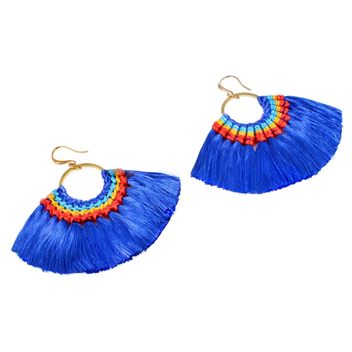 folk-custom metal plating earring (B0697 color)NHXR1445-B0697 color