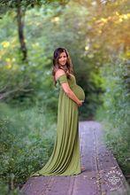 速卖通外贸孕妇写真拍摄连衣裙 一字领短袖弹力棉孕妇拖地裙