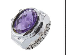 Flip ring watch male pearl ring watch female student student best selling gift ring watch alloy finger table flower