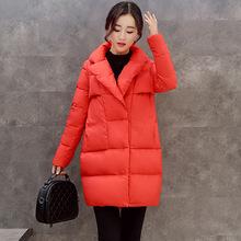 冬季可爱外套女2017新款羽绒棉衣中长款韩版修身百搭棉袄学生棉服