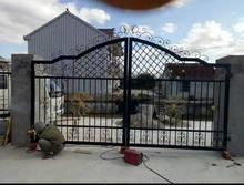 广东厂家定做新农村庭院铁门简单实用实心方钢手动双开烤漆铁大门