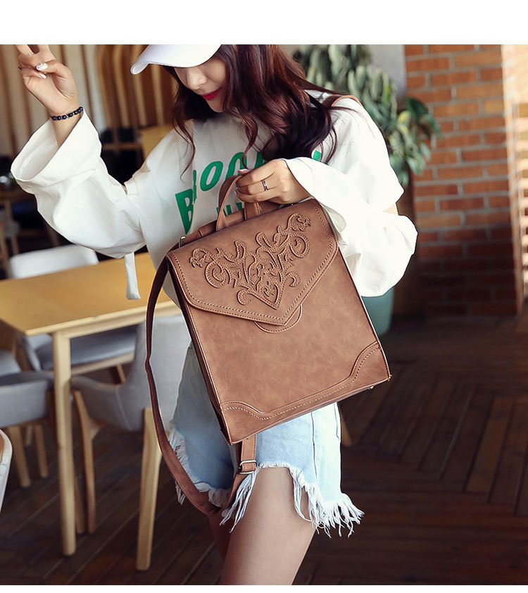 Korean version PUbackpack (Yellow brown)NHPB0583-Yellow brown