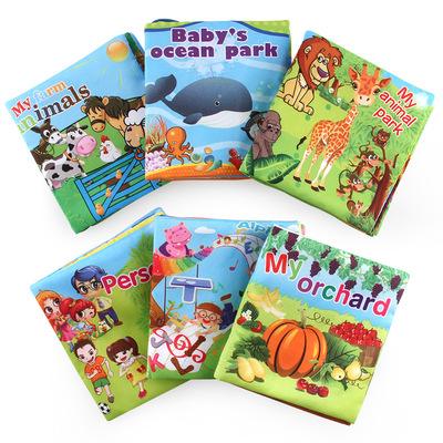 Bé giáo dục sớm cuốn sách vải Môi Trường rách bad baby cuốn sách vải bb cuốn sách vải thương mại Nước Ngoài thời thơ ấu đồ chơi vải cuốn sách