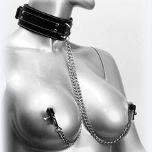 成人情趣性保健用品夫妻快乐乳头夹金属链条颈圈性用品玩具项圈