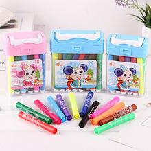 水彩笔套装12 18 24 36色可洗水彩笔画笔儿童绘画笔 创意文具批发