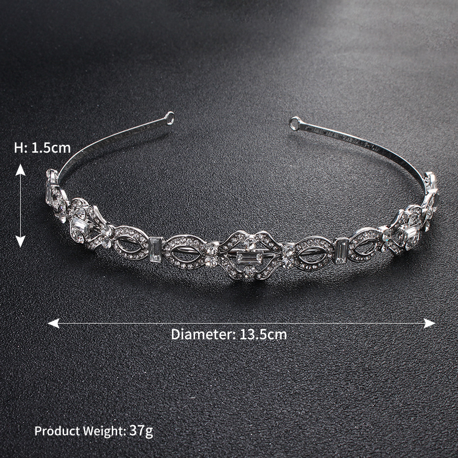 Imitated crystalCZ Fashion Geometric Hair accessories  Alloy NHHS0453Alloy