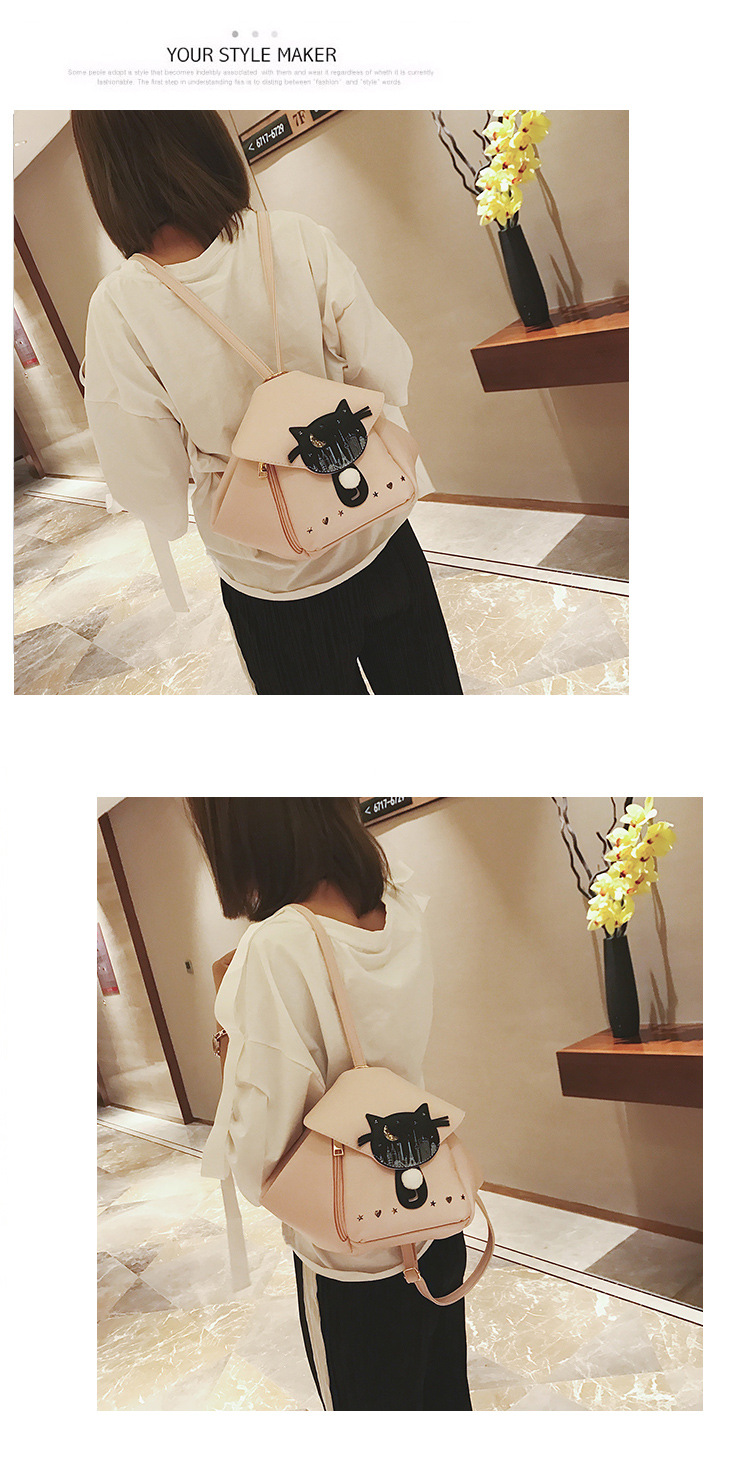 Korean version PUbackpack (Beige)NHPB0621-Beige