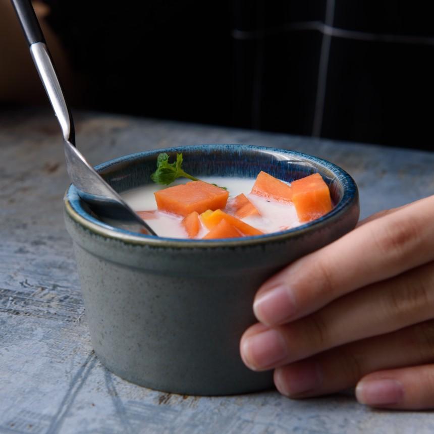 立奥陶瓷创意窑变陶瓷蛋糕盅蒸蛋碗甜品蛋挞点心小吃碟日式风餐具