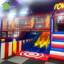 儿童主题淘气堡儿童乐园滑梯组合糖果游乐设备大型室内游乐场设备