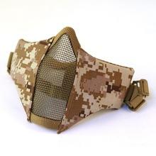 厂家直销 V10升级钢丝面具户外骑行战术面具透气半脸防护面罩