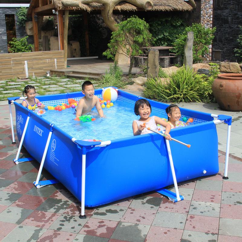 INTEX超大型成人支架游泳池加大加厚家用宝宝儿童泳池戏水池代发