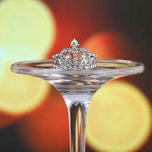 外贸新款创意皇冠型戒指 时尚镶钻手饰闺蜜戒指节日礼品饰品批发
