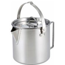 户外水壶 不锈钢户外提水壶 便捷单层水壶带手柄 野炊户外出口壶