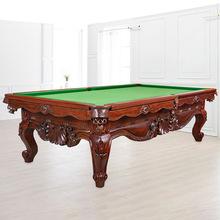 工厂批发台球桌中式黑8台帝王雕刻台黑八家用商用娱乐实木桌球台