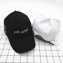 2019秋冬季新款棒球帽 AIR HOME刺绣字母鸭舌帽 韩版明星同款帽子