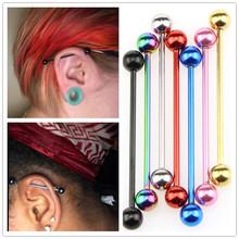 廠家直銷 7色單桿耳骨釘  長桿工業耳釘穿刺 長款耳釘 人體穿刺