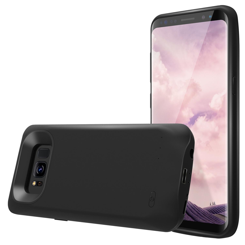 外贸S8背夹电池充电宝 S8 s8plus无下巴移动电源手机壳