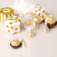现货批发小号六边形礼品彩盒烫金可定制可爱卡通巧克力包装盒礼盒