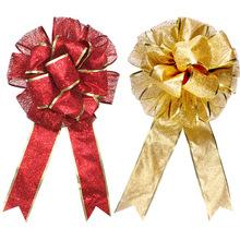 红色外贸大号圣诞装饰品 手工双层圣诞蝴蝶结花束 厂家直销