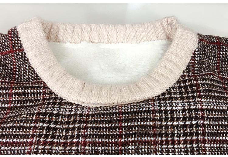 男宝宝加绒毛线衣冬季新款中小童男童保暖蝴蝶结毛衣
