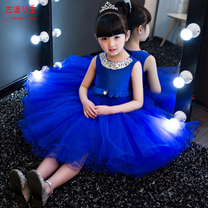 Children dress princess dress wedding flower girl dress skirt 2017 new girls 61 host Costume