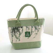 八零布袋 新款铝箔便当包 手提帆布保温袋 小清新时尚午餐包现货