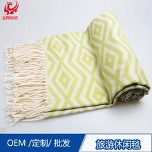 簡約現代外貿家紡家飾休閑毯辦公室午睡蓋毯薄毯廠家批發