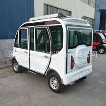 拉客載人四輪車 油電兩用電動轎車  加長3.1米四輪電動代步車