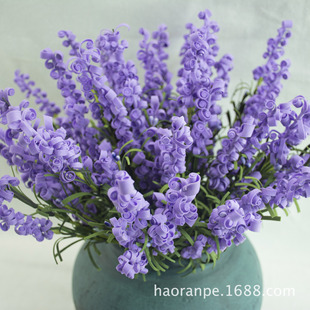 Artificial flowers European-style curled grass pe paper art flower simulation lavender bouquet curled petals home furnishings