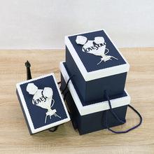 原创精美圣诞节品礼品包装盒 大号长方形礼物盒节日回礼伴手礼盒