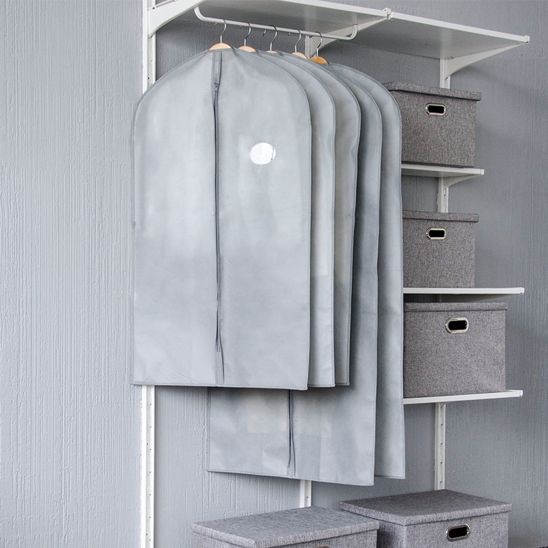 厂家直销加厚无纺布大衣西服罩套收纳衣服防尘罩家用大号防尘袋